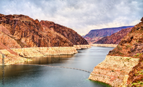 Photo Lake Mead above Hoover Dam in the United States