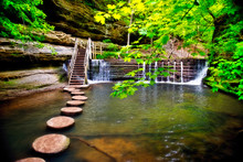 Stepping Stones In Stream To S...