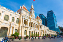 The People's Committee Of Ho Chi Minh City With Blue Sky In Ho Chi Minh, Vietnam