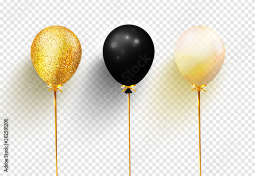 Photo  Balloons isolated on transparent background