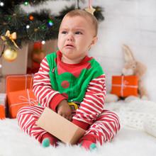 Little Baby Elf With Present B...