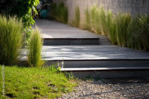 Fototapeta Jardin et aménagement de terrasse en bois