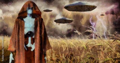Платно  Alien invasion