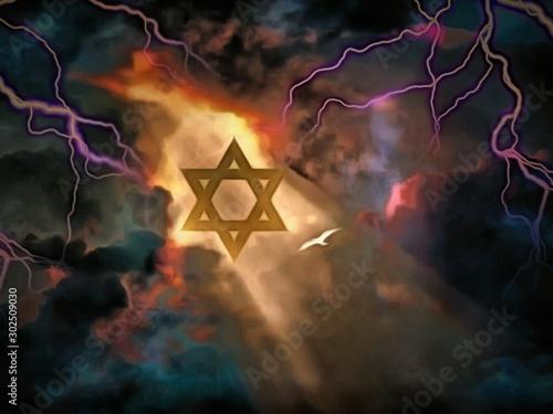 Fototapeta Star of David obraz