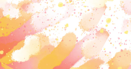 abstract background beautiful watercolor orange yellow watercolor spot the point of fill. digital painting imitation watercolor.