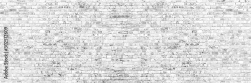 brick wall of grey color Canvas Print