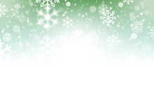 Beautiful Abstract Green Snowflake Christmas Background