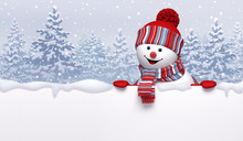 Christmas Background With 3d C...