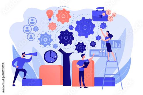 Obraz na plátně Business operation planning