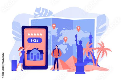 Obraz na płótnie Tourist agency mobile app