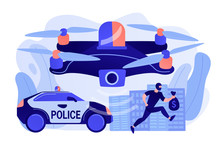 Police Car And Drone Tracking ...