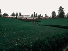 Big Abandoned Mansion With Gar...