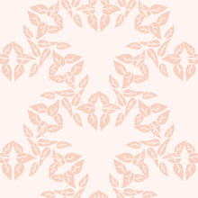 Peach Leaf Heart Repeat Patter...
