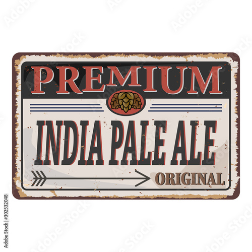 IPA or India Pale Ale Badge or Label Canvas Print