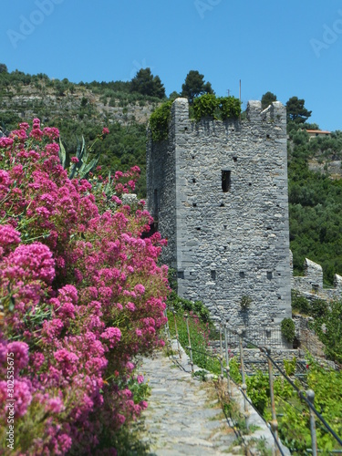 Section of the fortifications of the Doria Castle in Portovenere, Liguria, Italy Fototapet