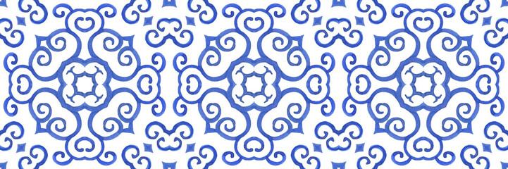 Antique portuguese tiles. Blue Azulejos ceramic. Spanish pottery..Sicily ital...