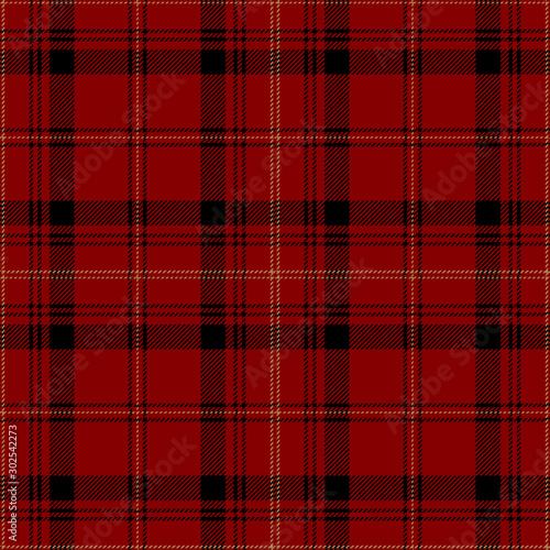 Obraz Red and black tartan plaid. Stylish textile pattern. - fototapety do salonu