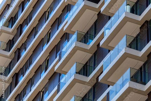Fototapeta Modern high rise apartment buildings obraz
