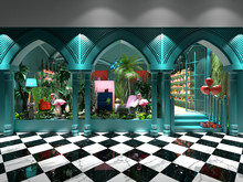 3d Render Of Fashion Shop