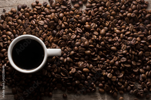 Fotobehang Koffiebonen Café