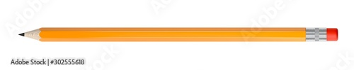 Fotografija Orange pencil isolated on white background