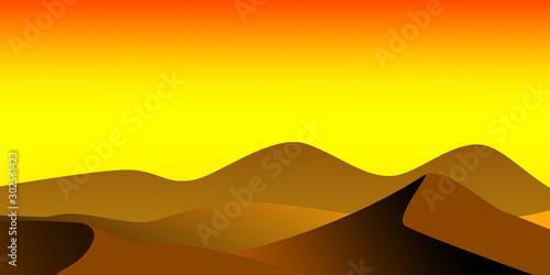 Colored minimalistic desert landscape