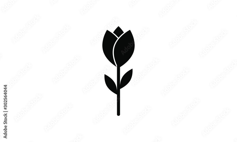 Fototapety, obrazy: rose, tulip icon vector
