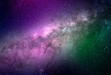 Abstract galaxy background with stars and planets with colorful galaxy motifs of universe night light space