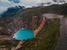 Blue Lagoon On Irazu Volcano, Costa Rica