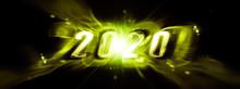 光り輝く抽象的な2020�...