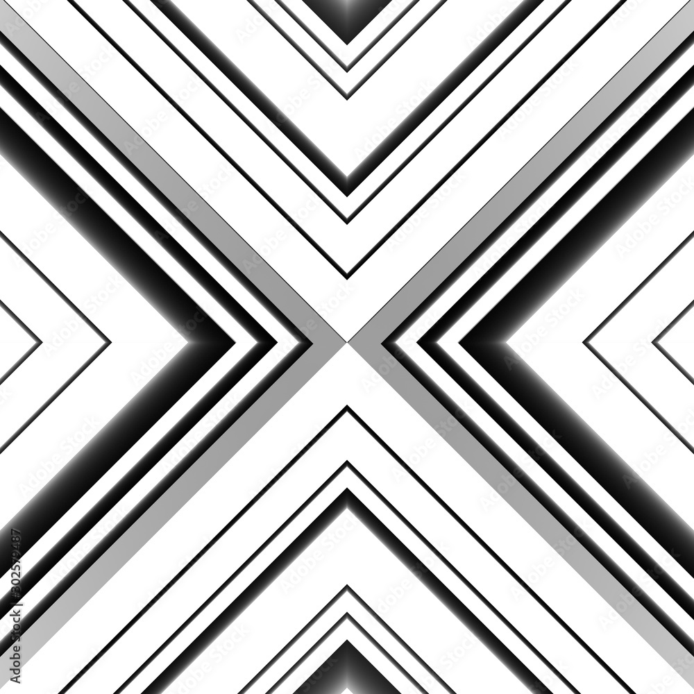 Fototapeta Abstract background with stripes. Various lines. Triangle geometry shapes. 3D rendering