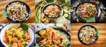 Photo Mix Thai Food Papaya Sal...