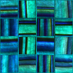Fototapeta Abstrakcja Square abalone pattern seamless texture, panel, 3d illustration