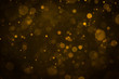 canvas print picture - Abstract blur gold sparkle bokeh