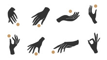Hand Linear Style Icon, Hands ...