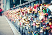 Thousands Of Love Padlocks Loc...