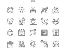 Love Is In The Air Well-crafted Pixel Perfect Vector Thin Line Icons 30 2x Grid For Web Graphics And Apps. Simple Minimal Pictogram