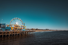 Santa Monica Pier, Park And Ferris Wheel