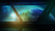 Earth From The Porthole Of The...