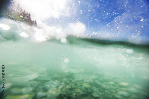 River underwater