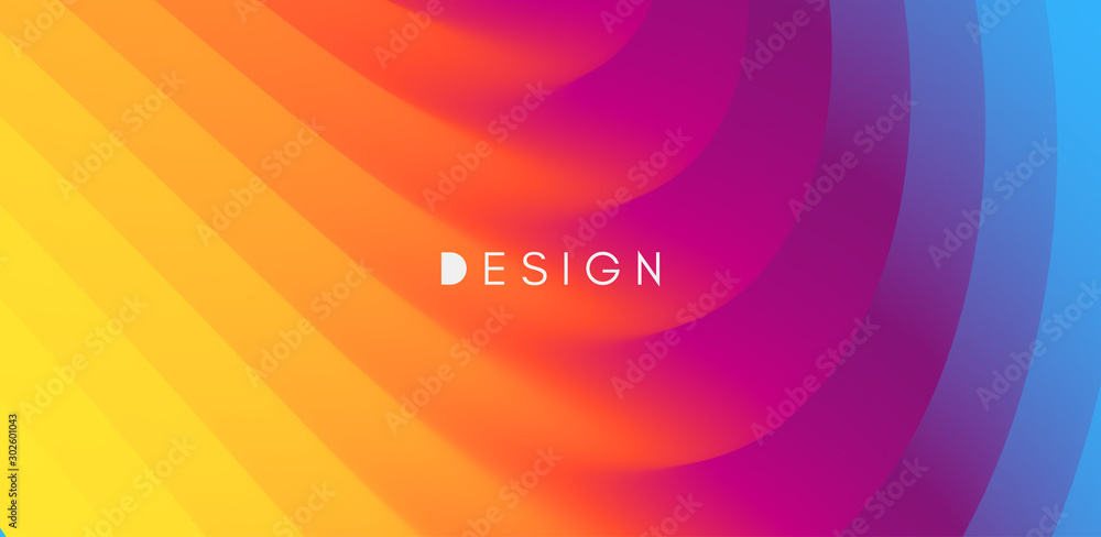 Fototapety, obrazy: Abstract waved background with layers. Trendy covers design. Vector illustration in modern art style.