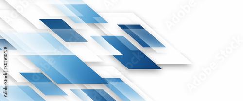 Square geometrical modern business presentation design template Canvas Print