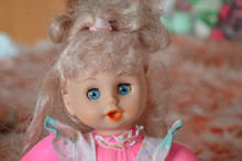 Vintage Doll With Pink Hair