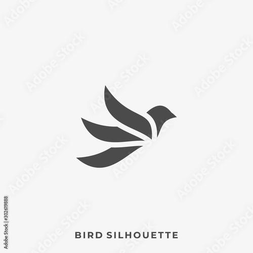 Obraz Minimalist Flying Bird Illustration Vector Design Template - fototapety do salonu