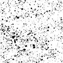 Ink Splash Seamless Pattern. Black And White Spray Texture