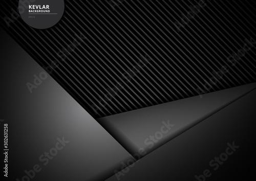 Obraz Template black geometric triangles overlapping carbon kevlar fiber background and texture. - fototapety do salonu