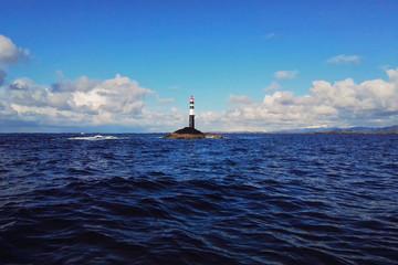 Leuchtturm an der norwegischen Atlantikküste
