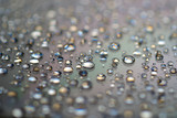 water drops on glass color gradient background