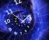 Fototapeta Do przedpokoju - Time in space. Time machine. 3d rendrering illustration