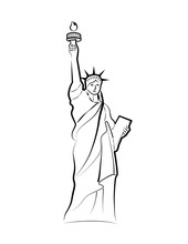 The Statue Of Liberty On Liber...